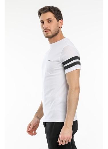Slazenger Slazenger MANAGE Erkek T-Shirt  Beyaz
